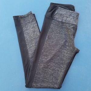 Women's. RBX. Leggings. Black/Metallic. Size M.